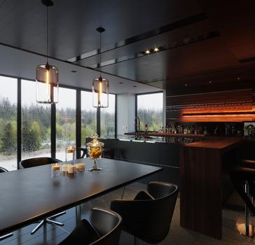 Стильный дизайн кухни от Leicht (сделано по референсу)