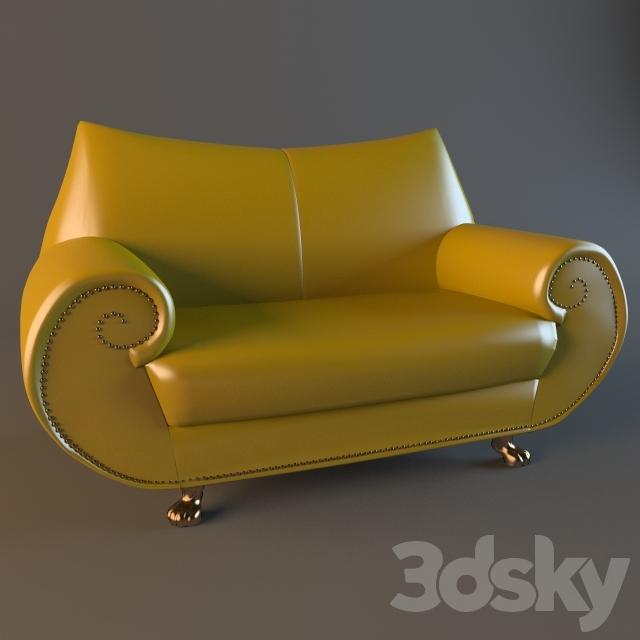 3d models sofa bretz gaudi e210. Black Bedroom Furniture Sets. Home Design Ideas