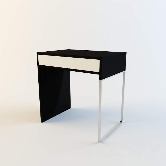 3d models table ikea micke desk small. Black Bedroom Furniture Sets. Home Design Ideas