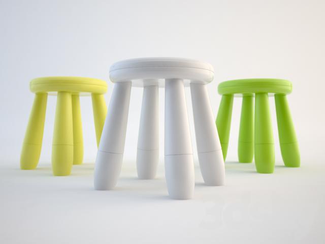 3d models table chair mammut - Ikea mammut stuhl ...
