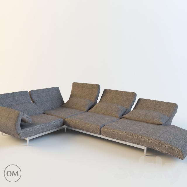 3d models sofa rolf benz plura. Black Bedroom Furniture Sets. Home Design Ideas