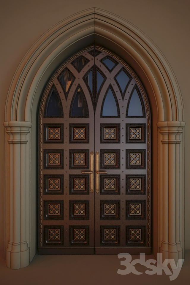 Entrance Door In The Gothic Style