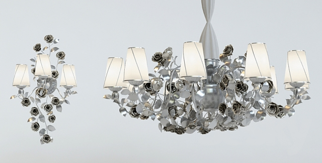 Chandelier and wall brackets