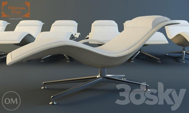 Larus Poltrona Frau.3d Models Arm Chair Poltrona Frau Larus
