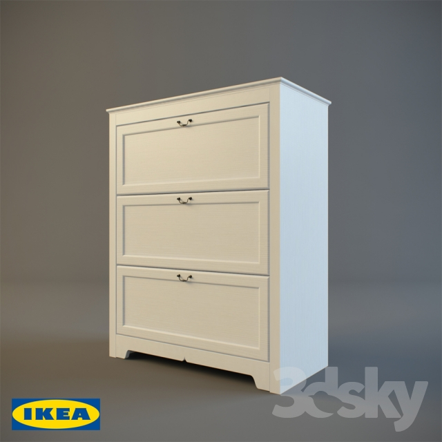 online store 45d6d dfc37 3d models: Sideboard & Chest of drawer - Ikea / ASPELUND
