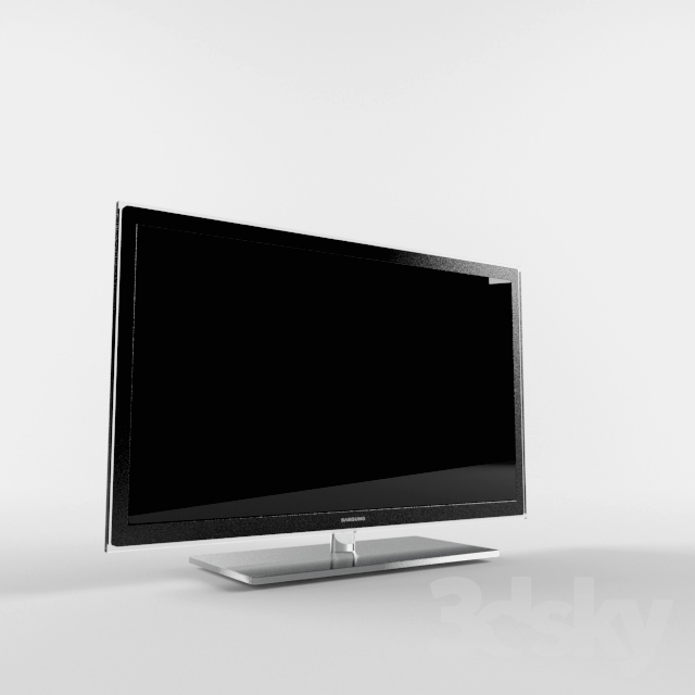 3d models tv led tv samsung ue 37c6000. Black Bedroom Furniture Sets. Home Design Ideas