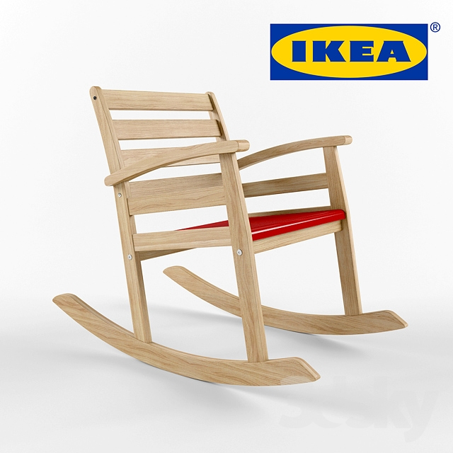 3d models table chair ikea rofylld rocking chair - Ikea varmdo rocking chair ...