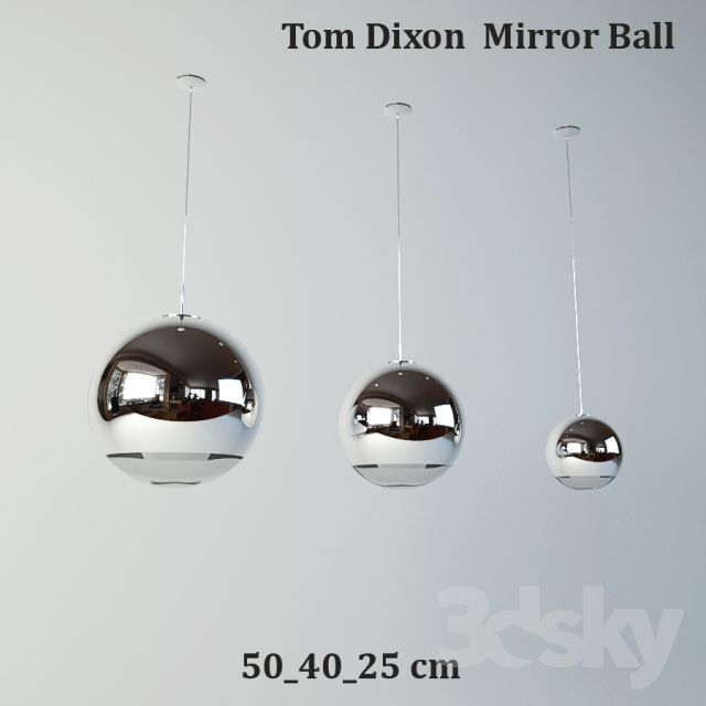 3d models ceiling light tom dixon mirror ball. Black Bedroom Furniture Sets. Home Design Ideas