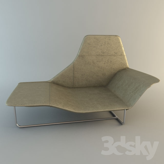 3d models: Other soft seating - Zanotta / Lama Chaise Longue on chaise recliner chair, chaise sofa sleeper, chaise furniture,
