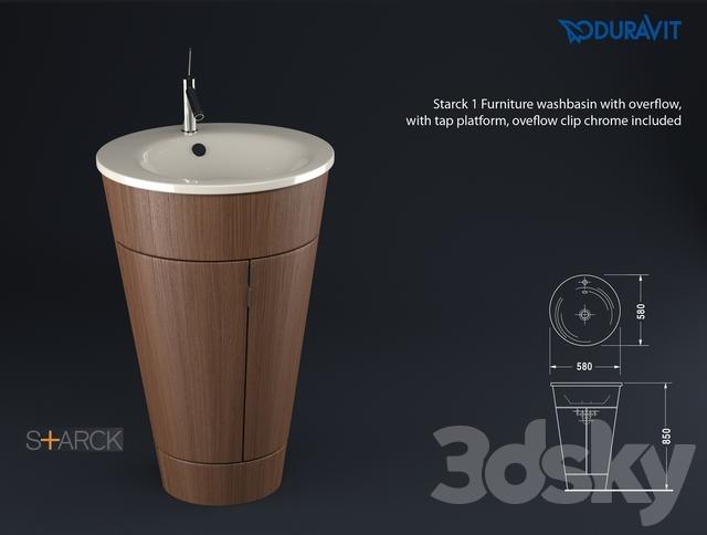 3d models: Wash basin - Duravit Starck 1