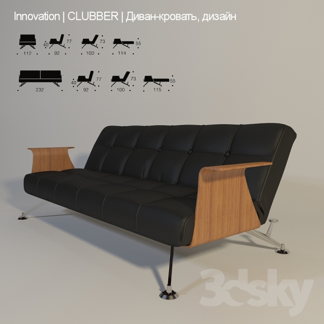 3d models: Sofa - Innovation / Clubber