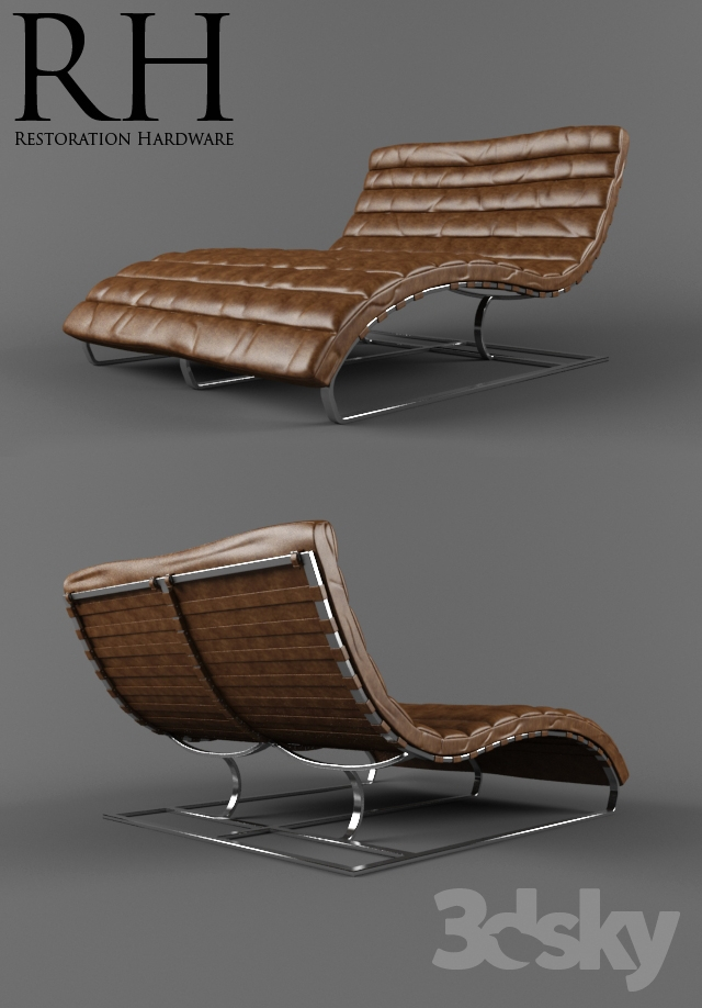 Restoration Hardware / Oviedo Leather Chaise