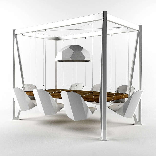 3d Models Table Chair Duffy London Swing Table