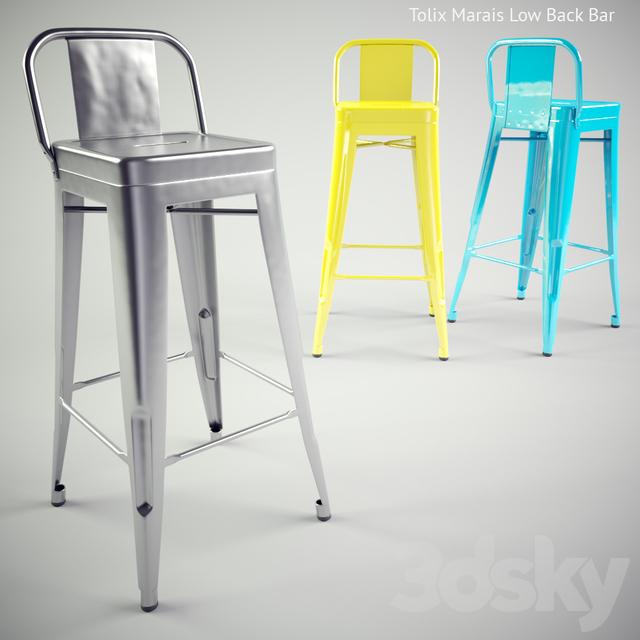 3d models chair tolix marais low back bar