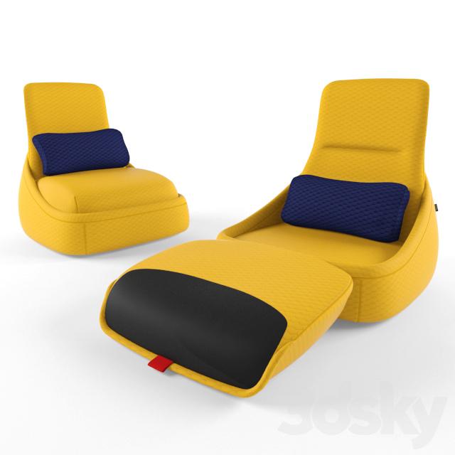 3d Models Arm Chair Coalesse Hosu