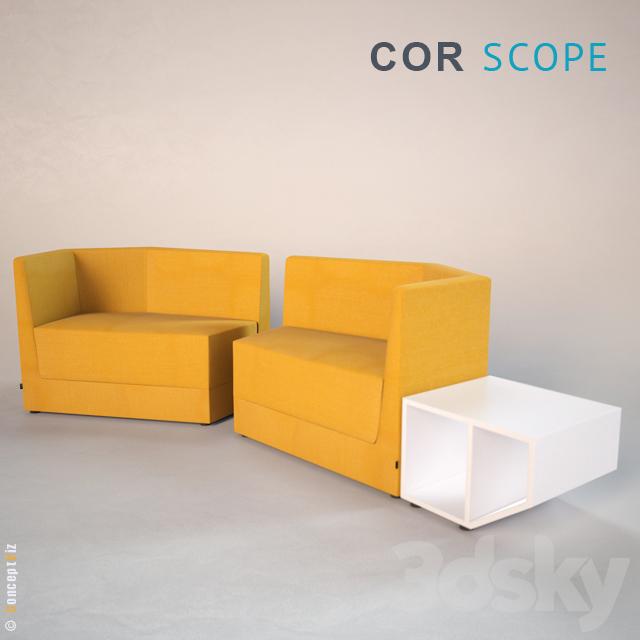 3d models sofa cor scope. Black Bedroom Furniture Sets. Home Design Ideas