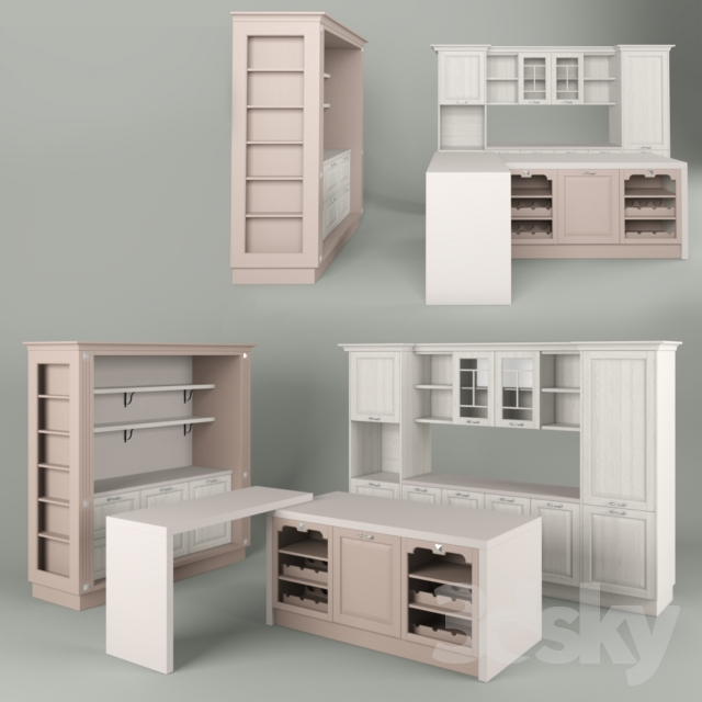 3d models: Kitchen - CUCINE LUBE Laura