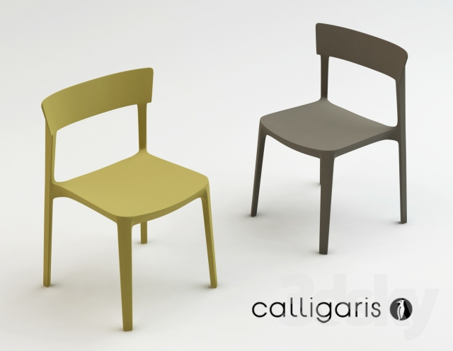 3d models: Chair - Calligaris skin