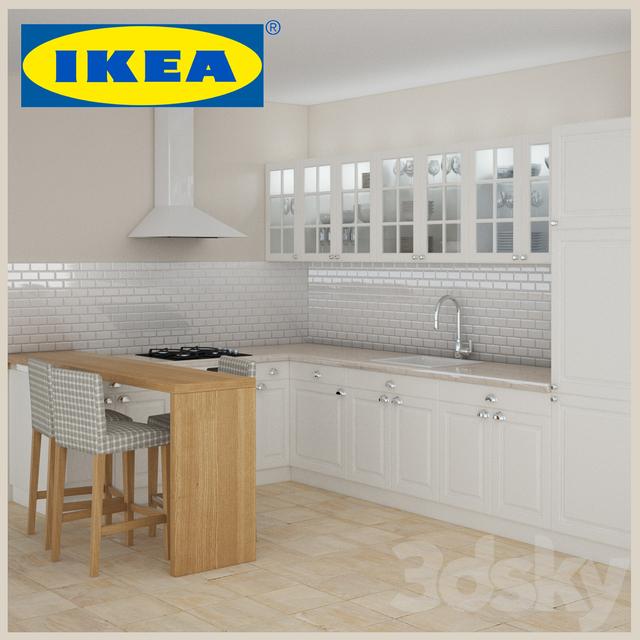Faktum Ikea 3d models kitchen ikea faktum lindigo white