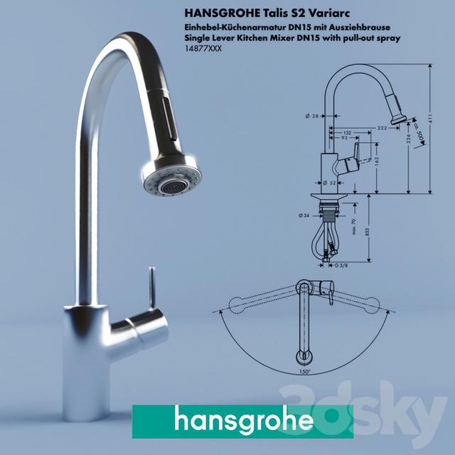 Kæmpestor 3d models: Faucet - Hansgrohe Talis S2 Variarc FA06