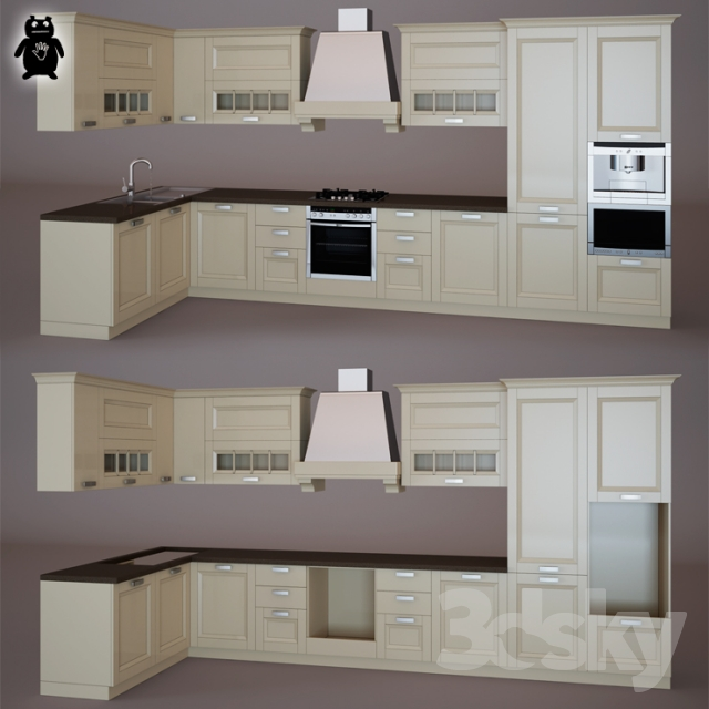 3d models: Kitchen - Stosa Cucine Beverly