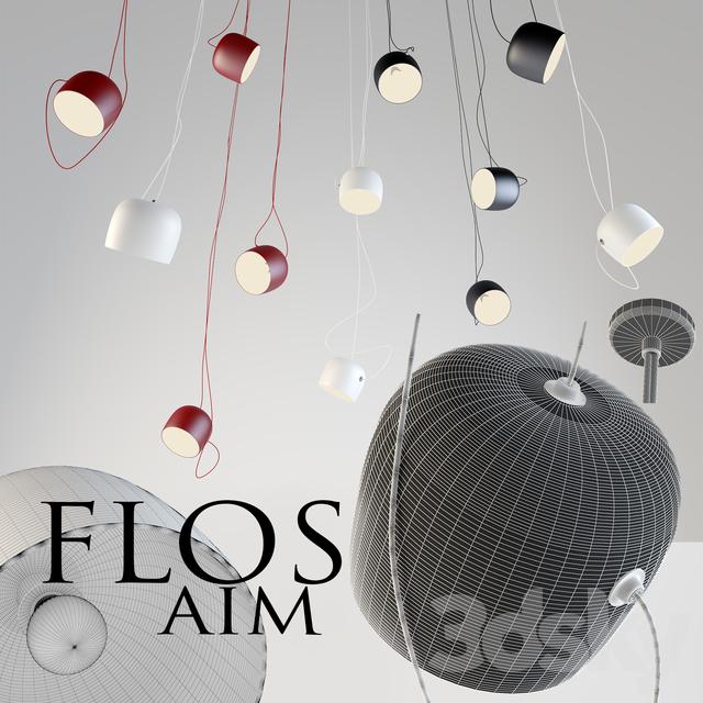 3d models ceiling light flos aim suspension lamp. Black Bedroom Furniture Sets. Home Design Ideas