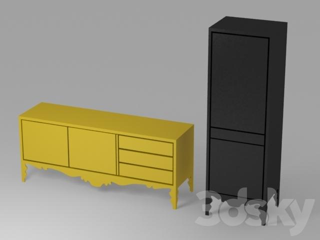 Credenza Trollsta Ikea : 3d models: sideboard & chest of drawer ikea trollsta