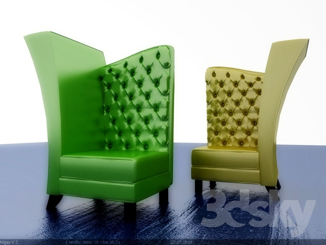 Chair, pop art and glamour