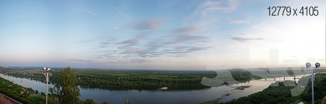 Panorama from the embankment of UFA