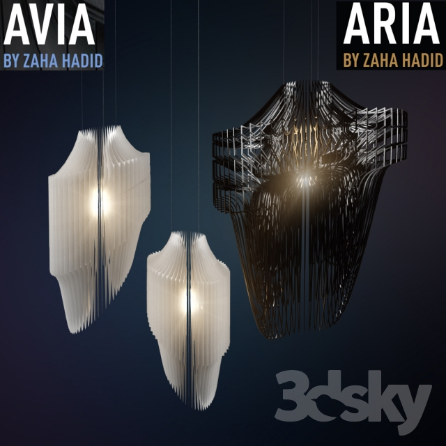 3d models ceiling light aria and avia lamps by zaha hadid aria and avia lamps by zaha hadid mozeypictures Choice Image