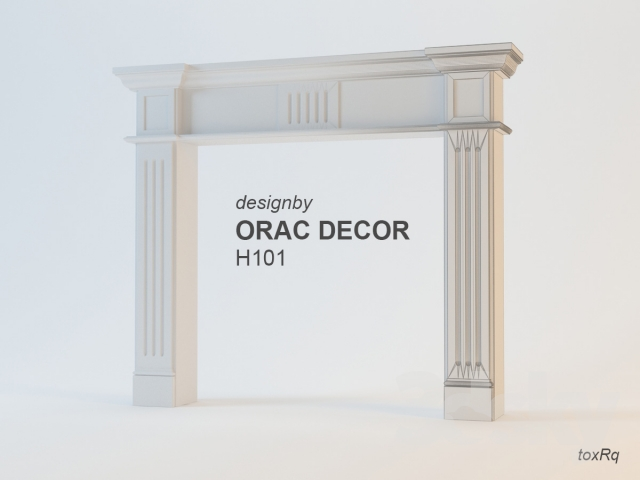 3D Models: Fireplace - Framing Fireplace Orac Decor H101B