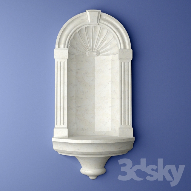 Large Niche Decorating Ideas: 3d Models: Decorative Plaster