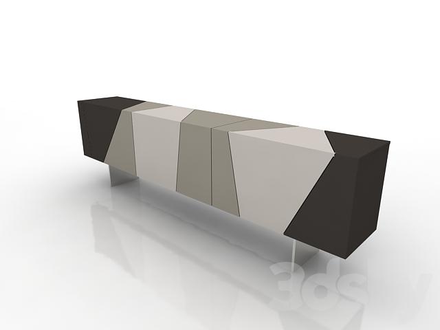 3d models sideboard chest of drawer ligne roset lines. Black Bedroom Furniture Sets. Home Design Ideas