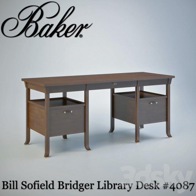 3d models table baker bridger library desk 4087 for Classic library table