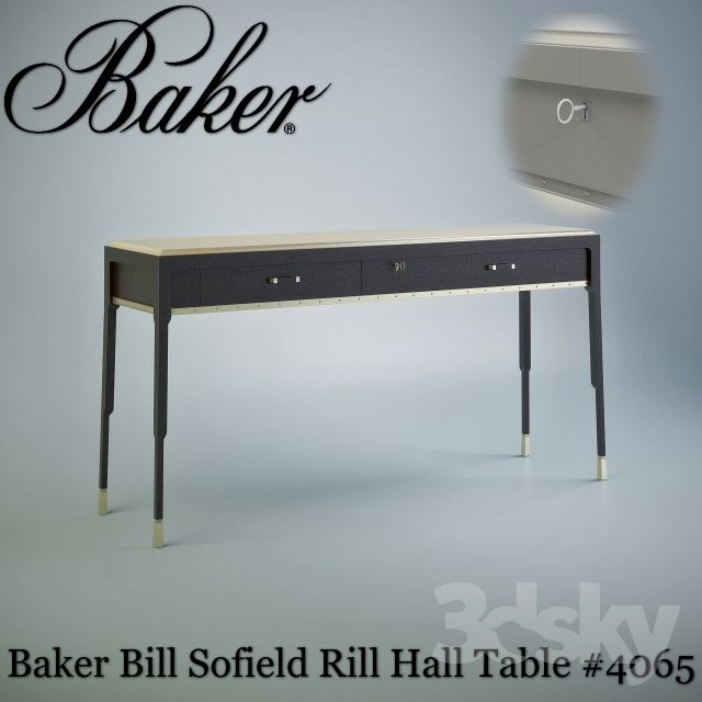 Baker Rill Hall Table # 4065
