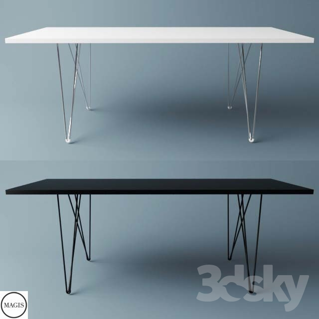 3d models table magis tavolo xz3 table rectangular for Table 52 2014