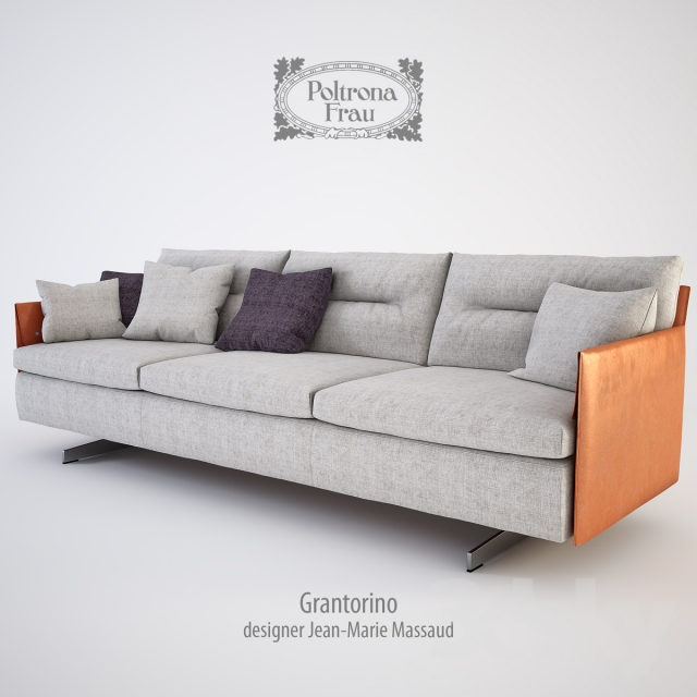 3d models: Sofa - poltrona frau grantorino