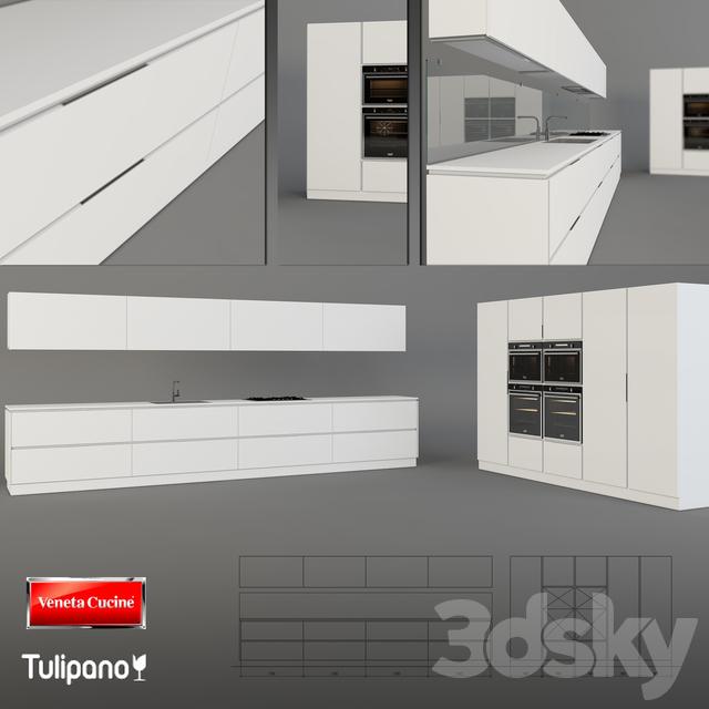 3d models: Kitchen - Veneta Cucine Tulipano