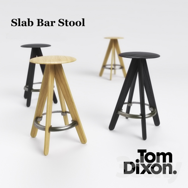 Astounding 3D Models Chair Tom Dixon Slab Bar Stool Gmtry Best Dining Table And Chair Ideas Images Gmtryco