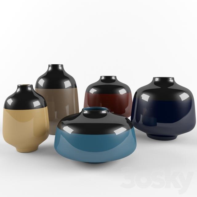3d Models Vase Lugano Vases By Roche Bobois