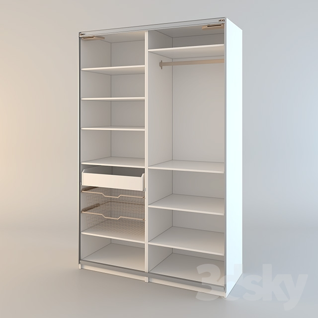 3d models wardrobe display cabinets ikea pax pax wardrobe. Black Bedroom Furniture Sets. Home Design Ideas