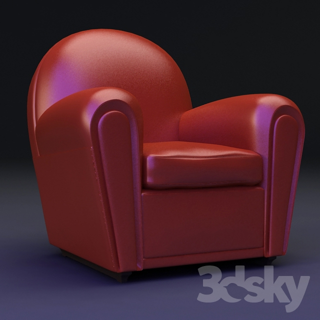3d models: Arm chair - BABY VANITY FAIR