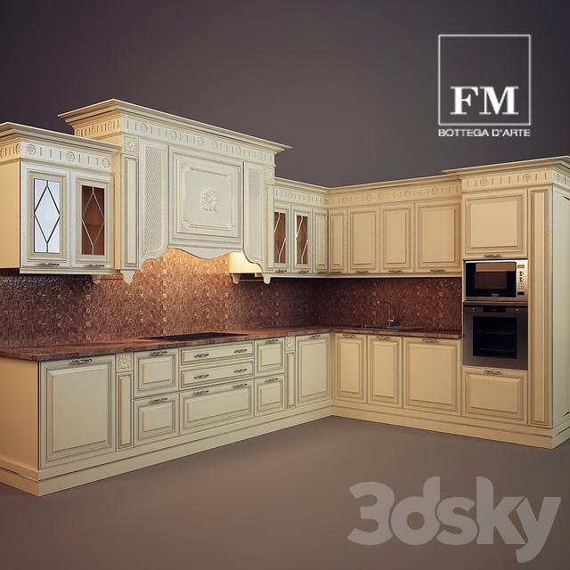 3d models: Kitchen - FIRENZE, FM BOTTEGA D'ARTE