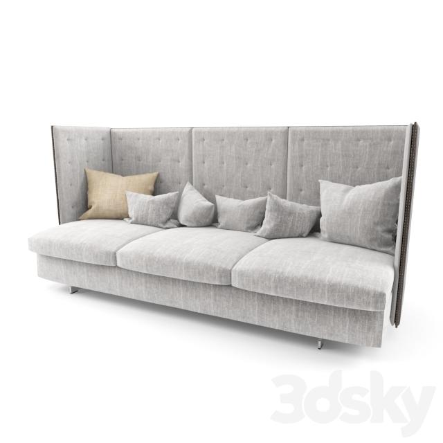 3d models sofa poltrona frau gran torino hb 3 seater sofa for Poltrona torino