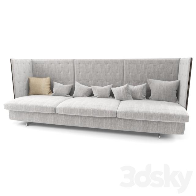 3d models sofa poltrona frau gran torino hb 3 seater for Poltrona torino