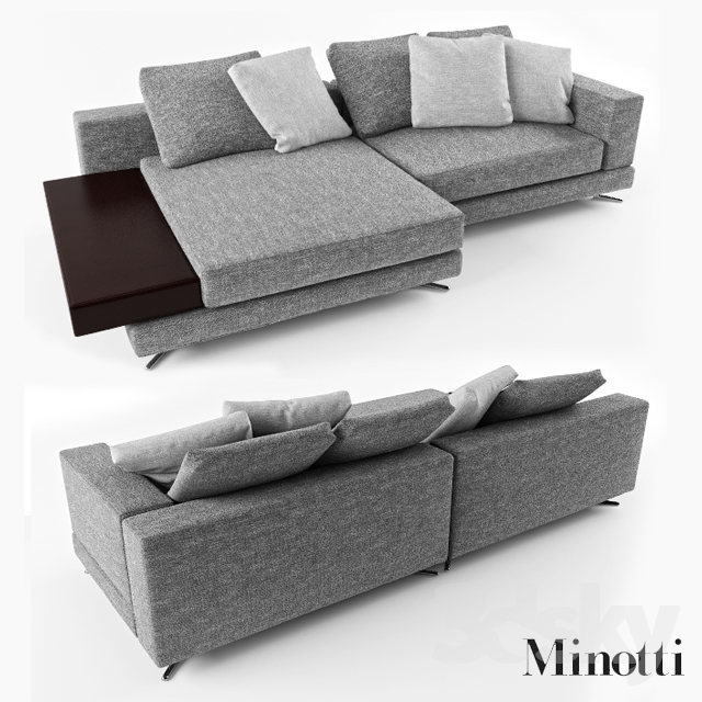 Excellent 3D Models Sofa Minotti White Caraccident5 Cool Chair Designs And Ideas Caraccident5Info