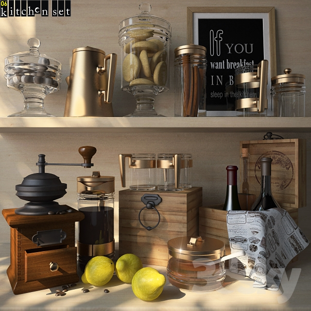 3d models other kitchen accessories kitchen set 06