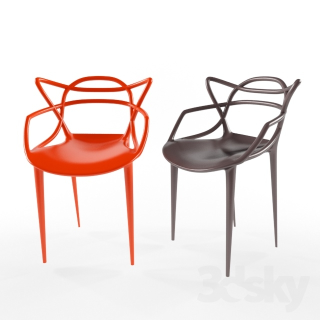 3d models: Chair - kartell masters chair