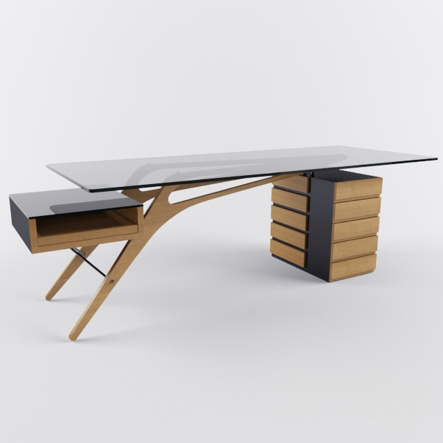 3d models table desk zanotta cavour for Table zanotta