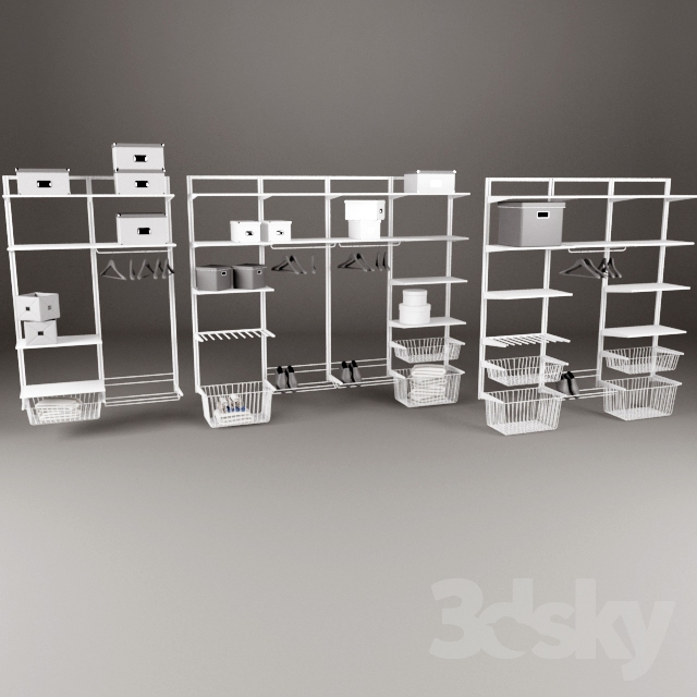 3d models other ikea storage system algot. Black Bedroom Furniture Sets. Home Design Ideas